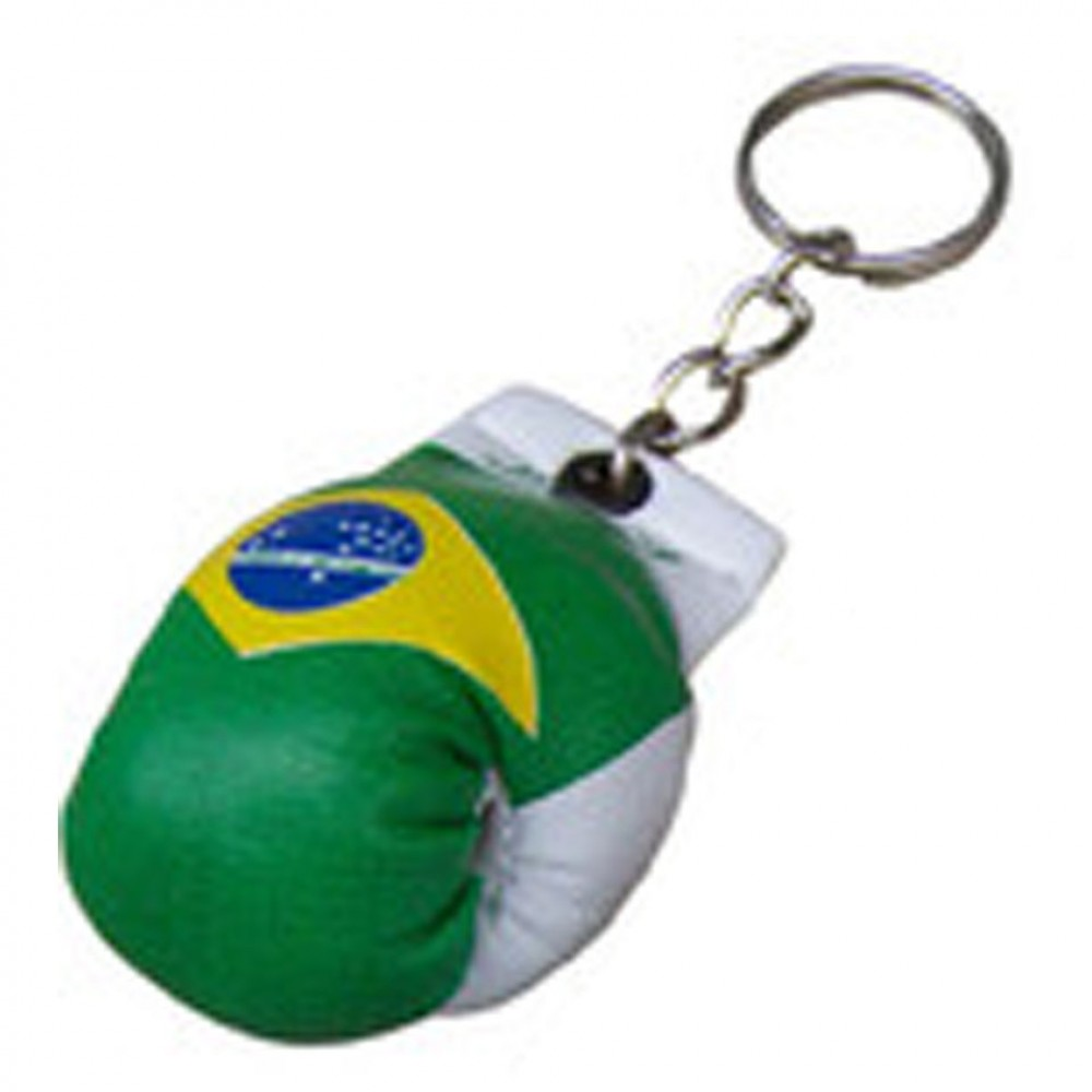 BRAZIL COUNTRY FLAG MINI BOXING GLOVES KEYCHAIN